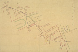 [A plan of the sewer from Bruton Street to Piccadilly with alterations].